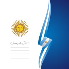 Argentinean right side brochure cover vector