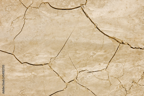 Dry and cracked soil texture