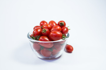 tomatoes in a glass