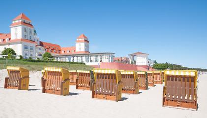 am Strand von Binz auf der Insel Rügen