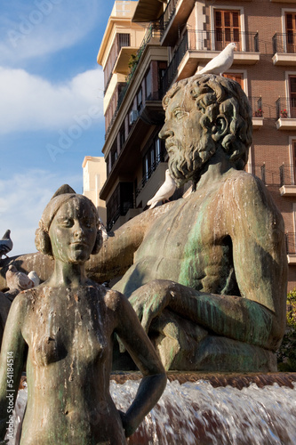 Turia Fountain in Valencia