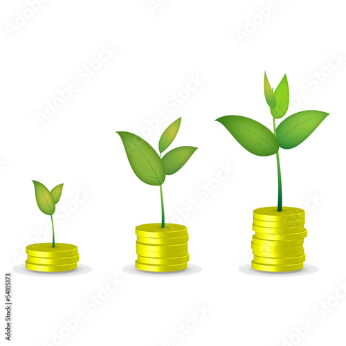 Coin tree grow