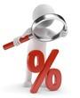 Lupe Prozentsymbol