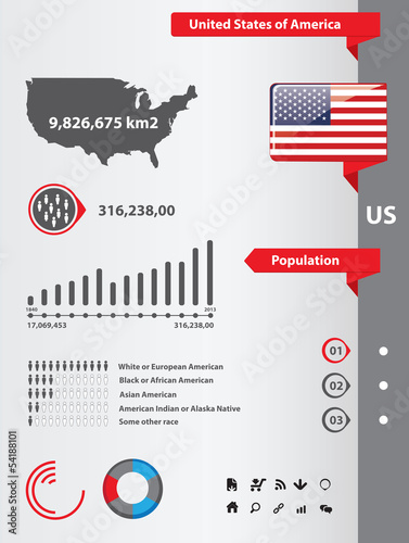 USA infographic elements