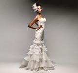 Fototapety African-American bride