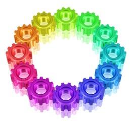 Kreis aus Zahnrädern - Vielfalt im Team