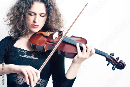 Violin playing classical violinist
