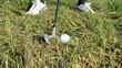 Golf Schlag Annäherung Rough