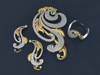 Jewelry set in the baroque style
