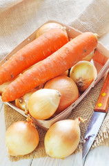 onion and carrot