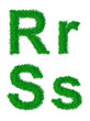 Green grass alphabet