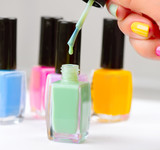 Fototapety Nail Polish. Manicure. Colorful Nail Polish Bottles