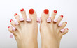 red pedicure