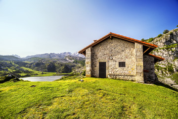 Mountain retreat in the lakes of Covadonga, Asturias , Spain
