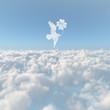 雲海と四葉と鳥