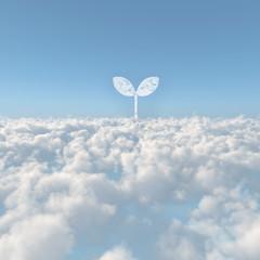 雲海と双葉の雲