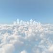 雲海と家の雲