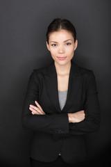 Proud confident successful businesswoman portrait