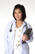 Portrait of a Female Doctor - Isolated