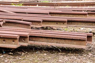 Old train rails