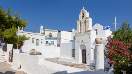 Agia Triada church in Adamantas, Milos island, Cyclades, Greece