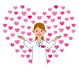 医療 ハート 女性