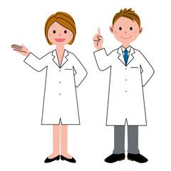医療 二人 男女