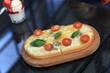 Bruschetta on a wooden plate