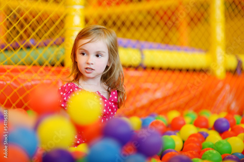 A girl having fun at the playground