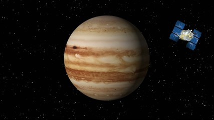 Satellite Approaches Jupiter