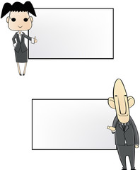 business people notepad in cartoon version