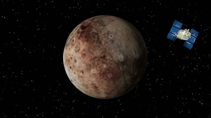 Satellite Approaches Pluto