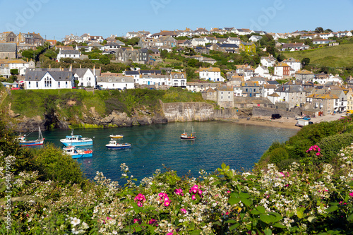 Port isaac North cornwall England beautiful sunny day