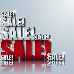 3d sale vector background