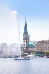 Hamburg Binnenalster und Rathaus