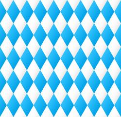 nahtloses Rautenmuster in bayrischen Farben