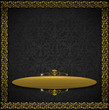 Luxury Floral Black and Gold Velvet Background
