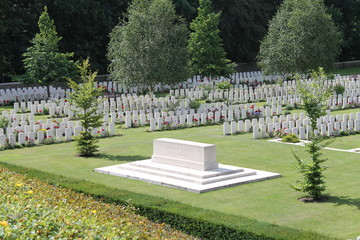 WW1 Buttes Cemetery in Polygon Wood near Ypres Belgium