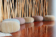 Leinwanddruck Bild - Cushion seat in quiet interior room for meditation