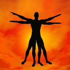 Vitruvian human - 3D render