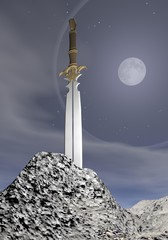 Magic sword - 3D render