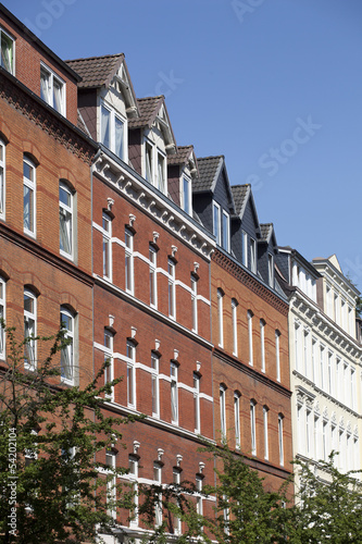 Jugendstilfassade in Kiel, Deutschland