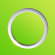 Green circle plastic button background