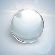 Glass ball  background, shiny and glossy