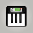 Synthesizer square icon