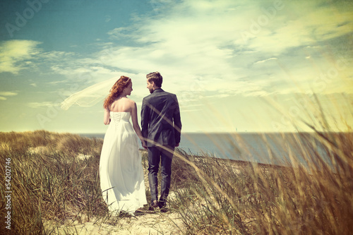Bridal Couple at the Beach