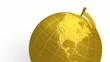 Gold globe spins, stops at North America