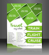 Vector Travel center brochure, flyer, magazine
