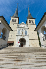 Hofkirche cathedral, Lucerne, Switzerland