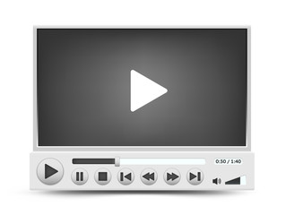 Vector video player interface